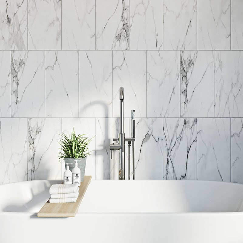 Arctic white matt tile 248mm x 498mm