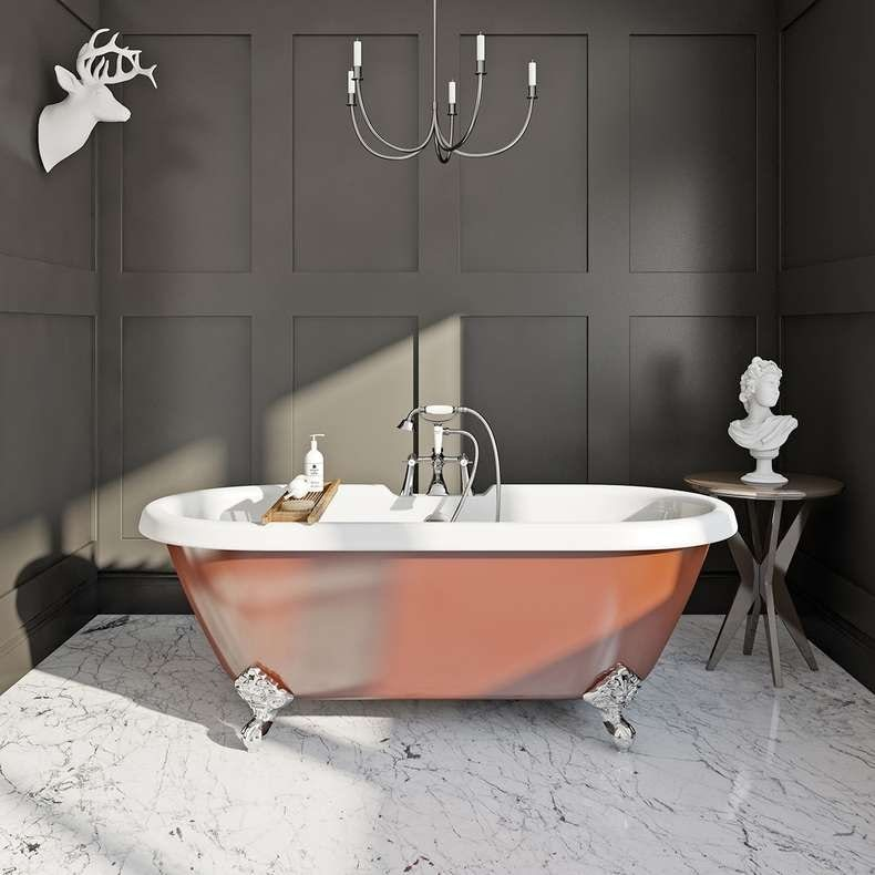Burnt copper coloured bath