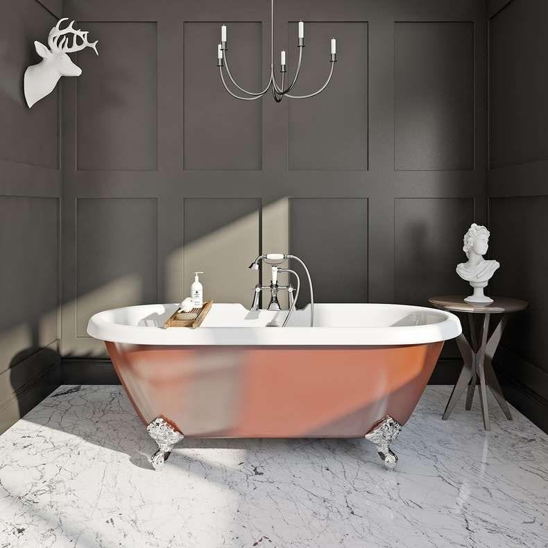 Burnt copper coloured bath