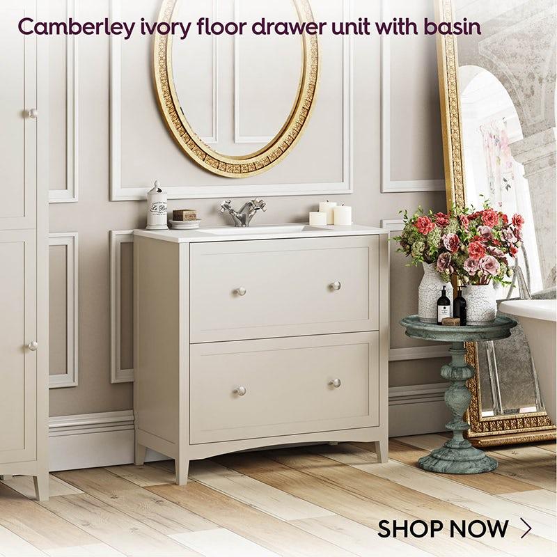 Camberley ivory vanity unit