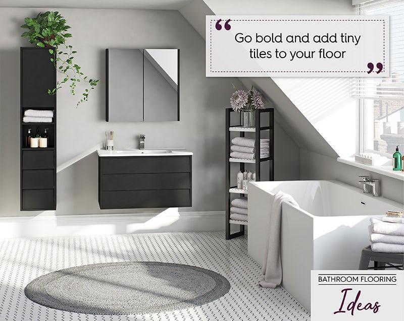 Small format tiles flooring