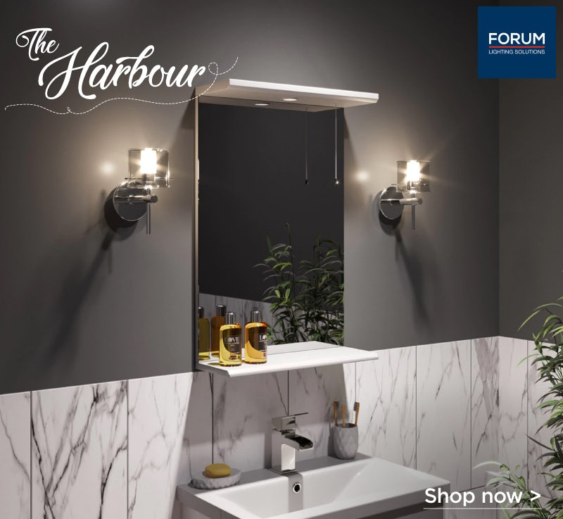 Forum Solis cylinder bathroom wall light