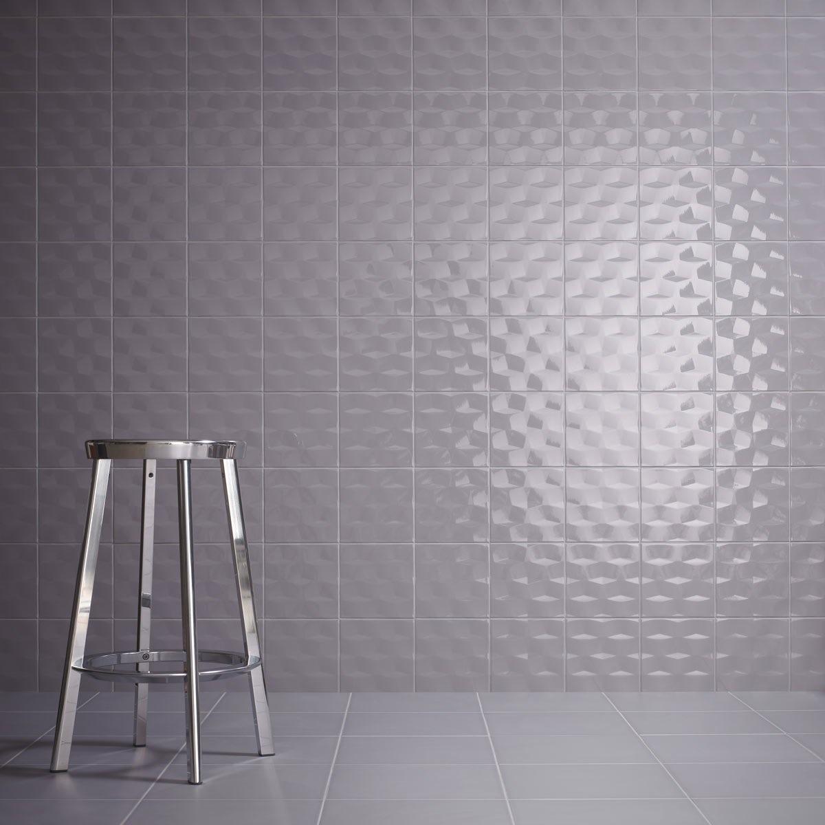 Studio Conran facet poise gloss tile 198mm x 198mm