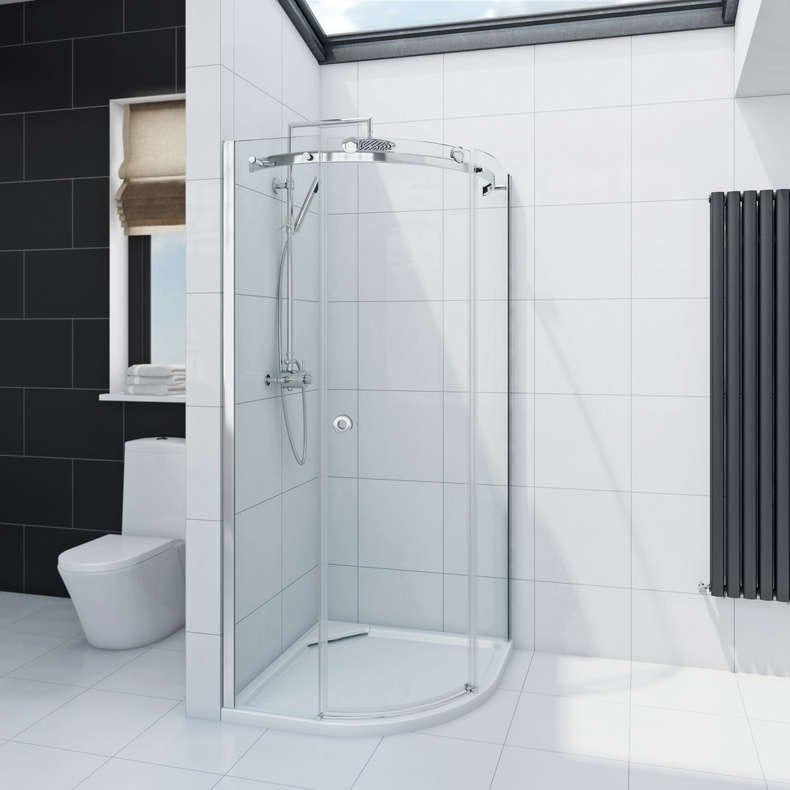 Infiniti 8mm single sliding door quadrant shower enclosure 900 x 900