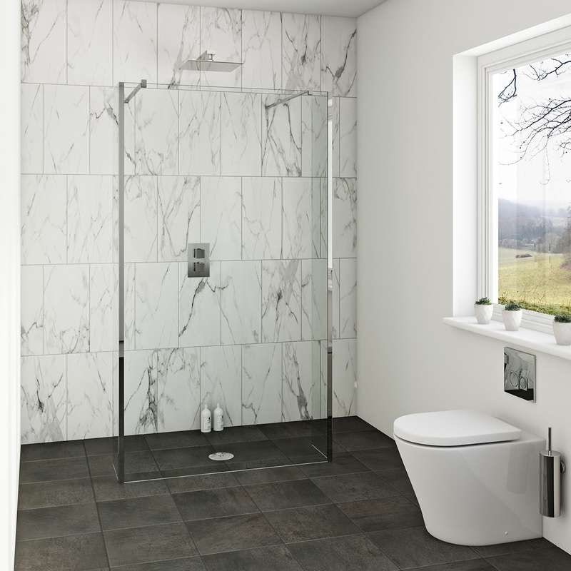 Mode luxury 8mm wet room glass panel and return panel packs