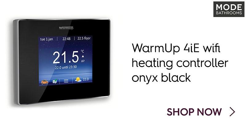 Warmup 4iE wifi heating controller onyx black