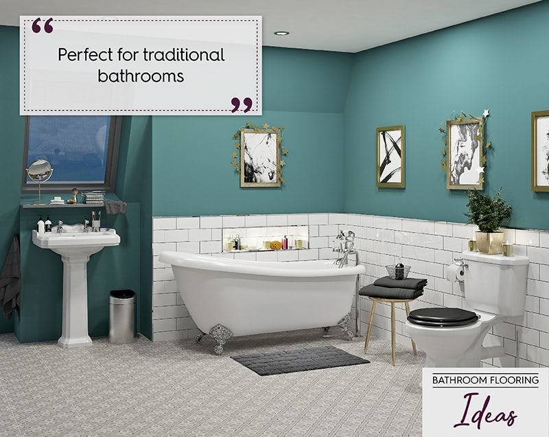 Traditional bathroom flooring