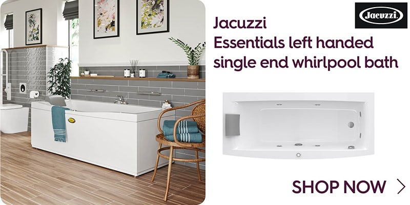 Jacuzzi Essentials left handed single end whirlpool bath