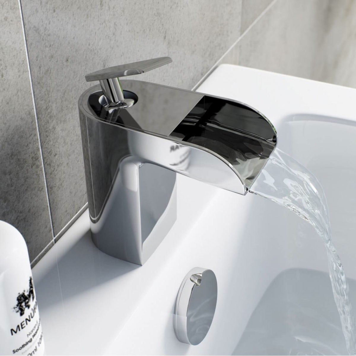 Reinosa waterfall basin mixer tap
