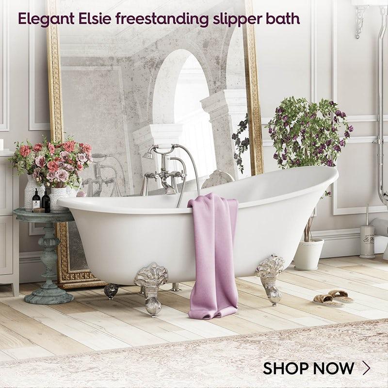 Elegant Elsie freestanding slipper bath with ball feet