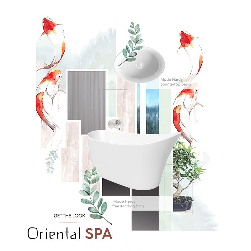 Oriental Spa mood board