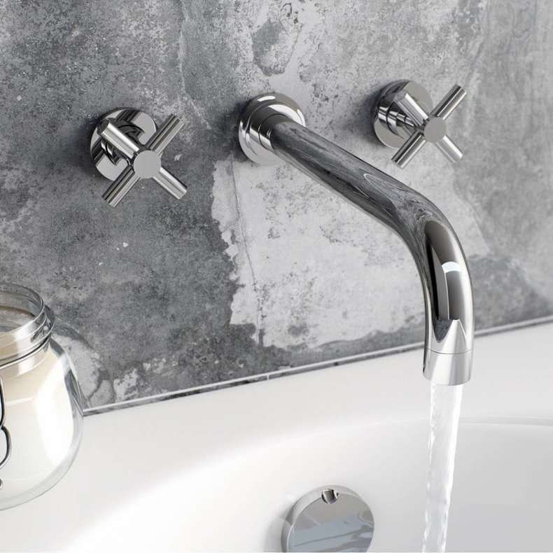 Alexa wall mounted bath filler tap