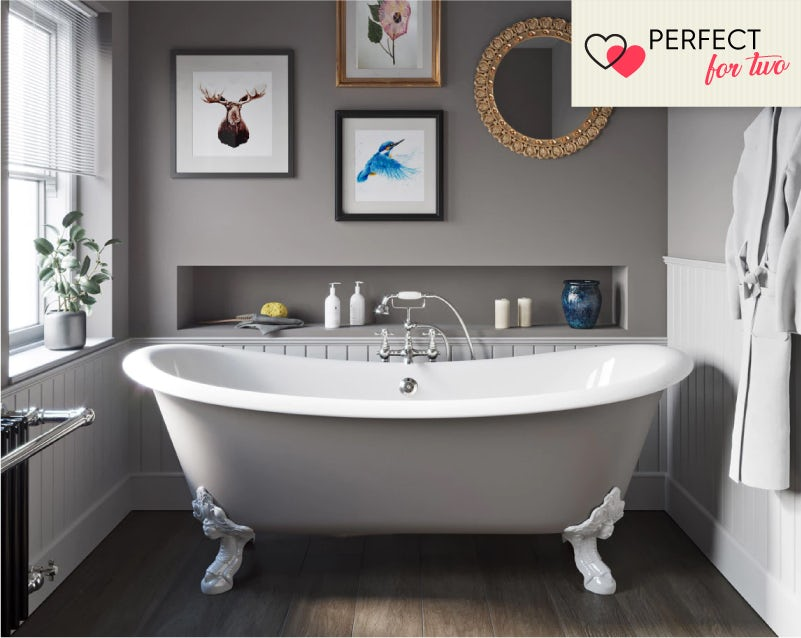The Bath Co. Dover keystone grey cast iron bath