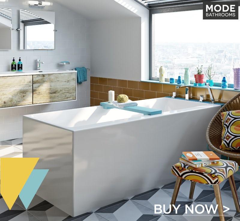 Mode Cooper rectangular freestanding bath