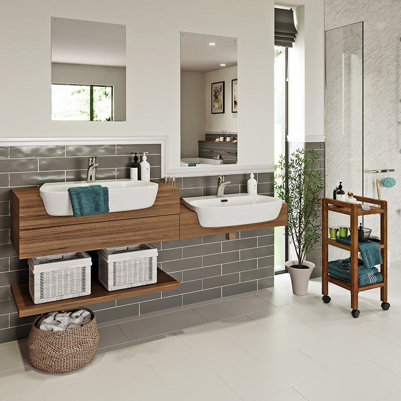 Independent Living bathroom - basins and taps