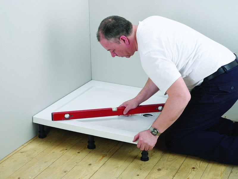 Fitting your shower tray