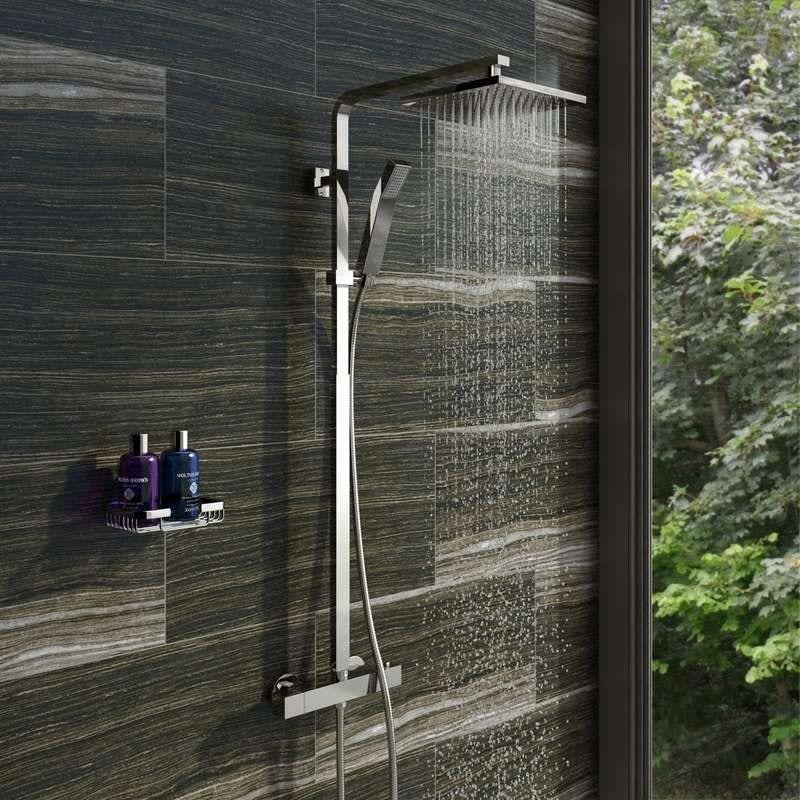Tetra thermostatic bar valve shower system