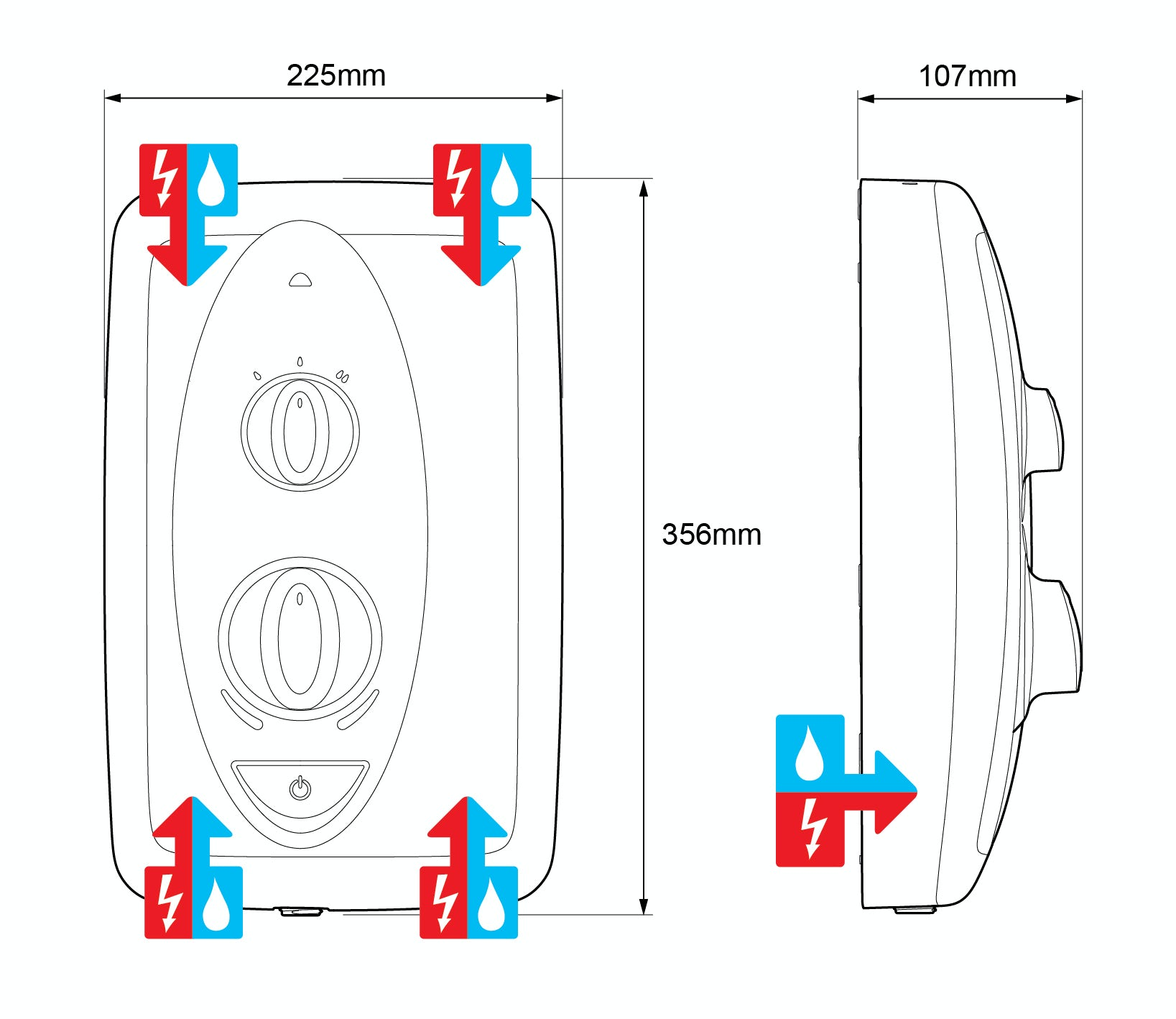 Mira Showers Guide To Replacing An Electric Shower Wiring Rcd Jump Electrical And Water Entry Points With The