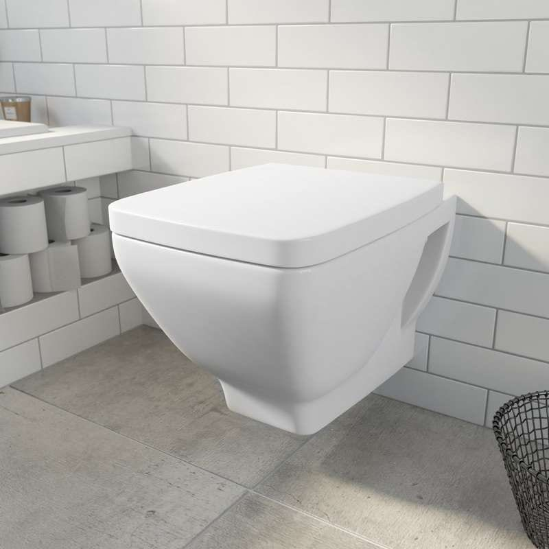 Verso wall hung toilet