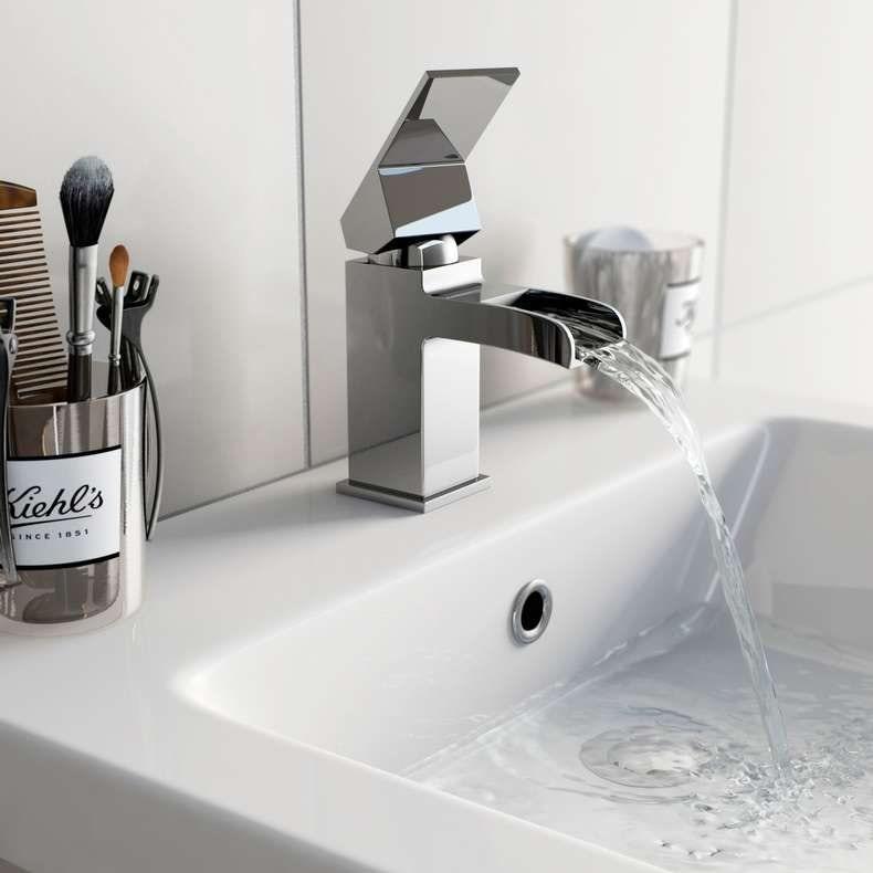 Escala waterfall basin mixer tap