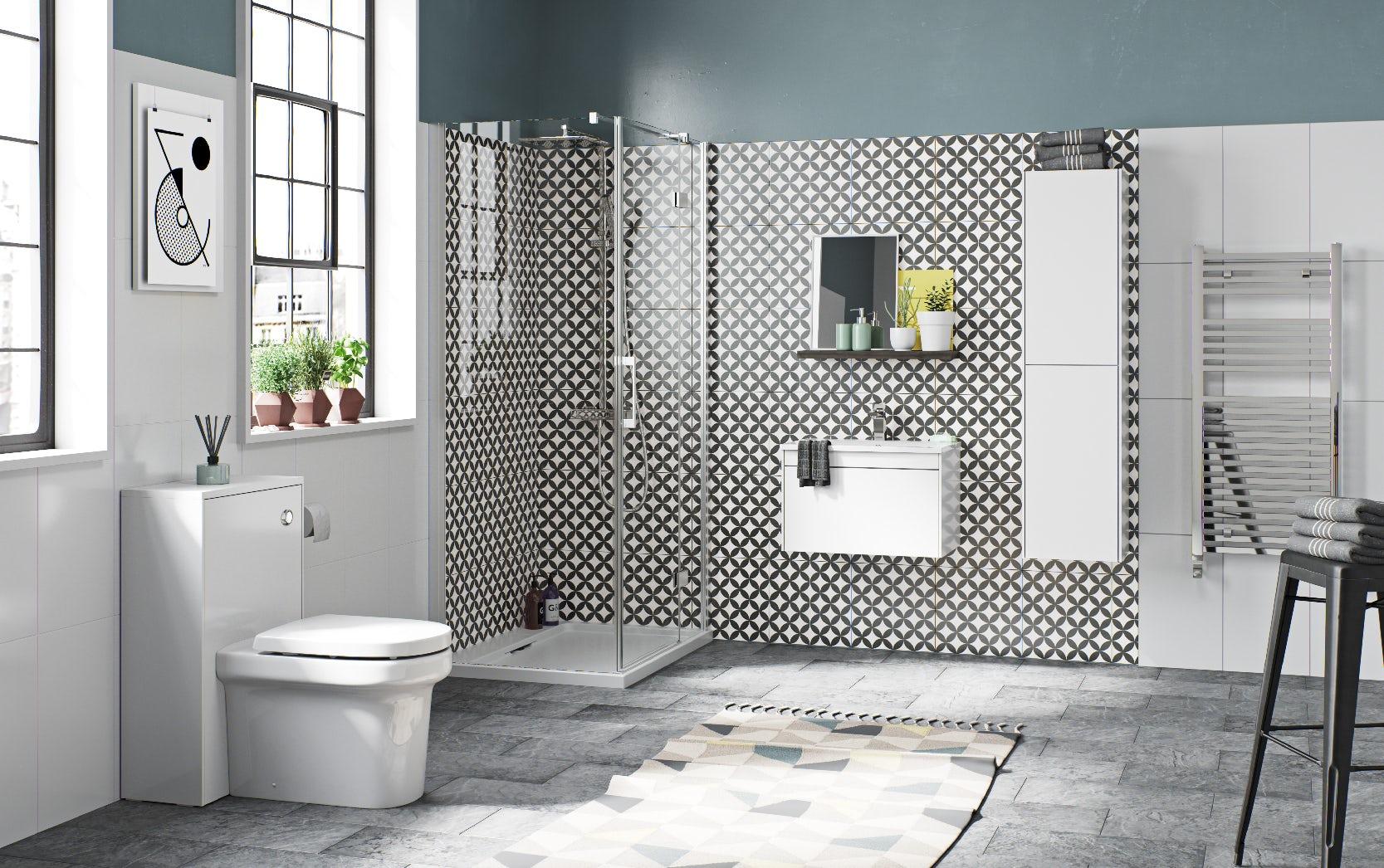 Austin white bathroom furniture