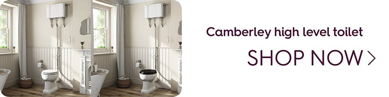 The Bath Co. Camberley high level toilet with wooden soft close seat