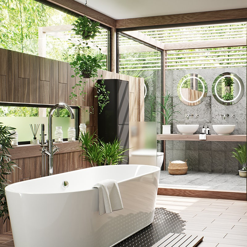 Add plants to your bathroom