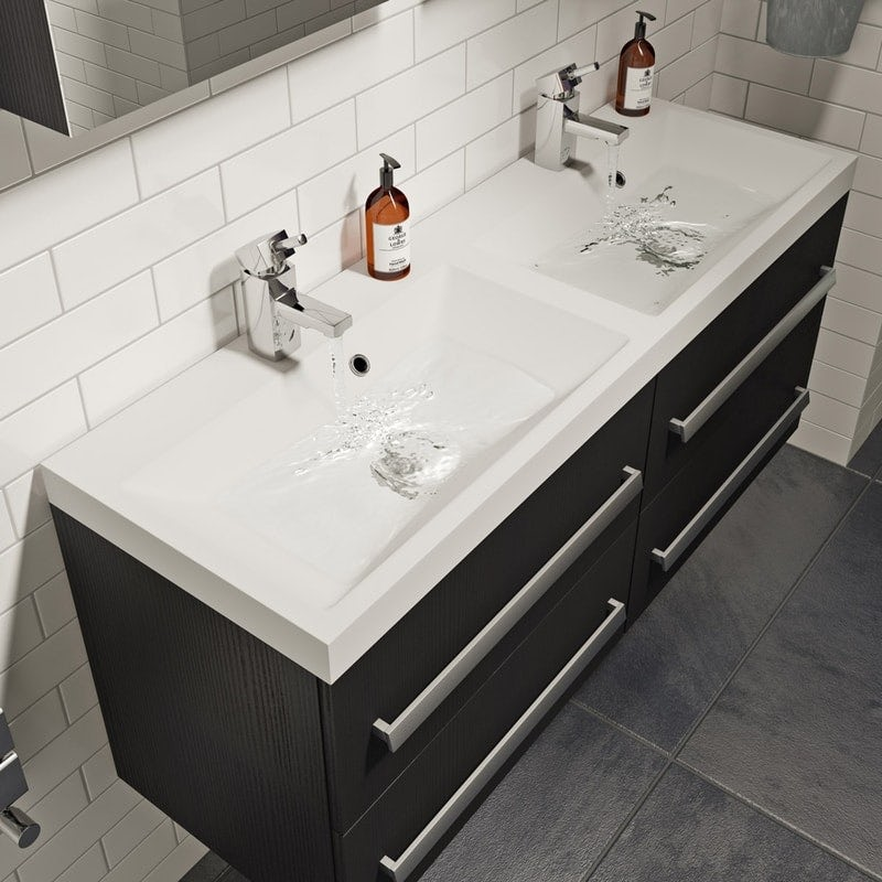 Orchard Wye essen wall hung double basin unit 1200mm