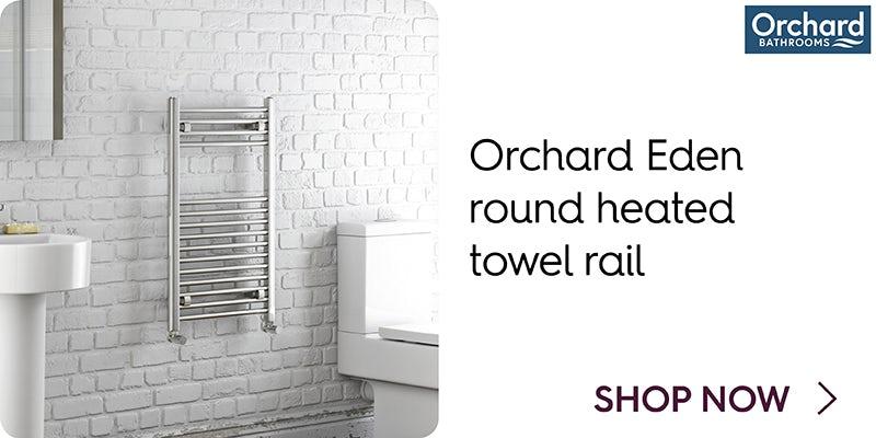 Orchard Eden round heated towel rail