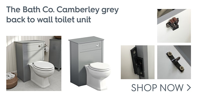 The Bath Co. Camberley grey back to wall toilet