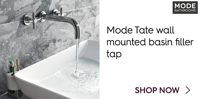 Mode Tate wall mounted basin filler tap