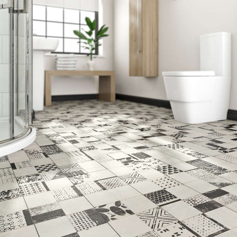 victoriana waterproof vinyl flooring - Bathroom Vinyl Flooring
