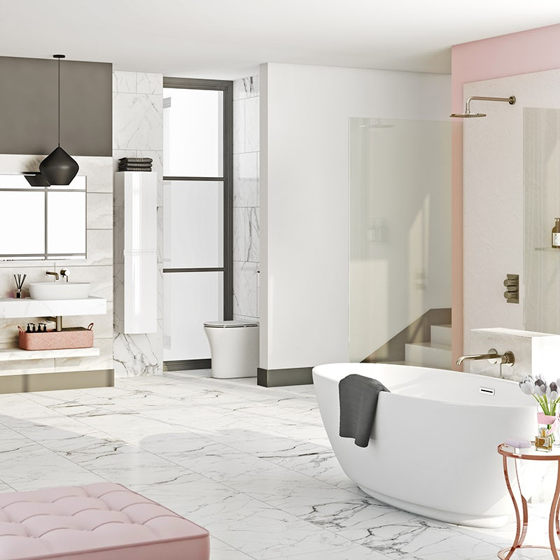 Boutique Blush bathroom