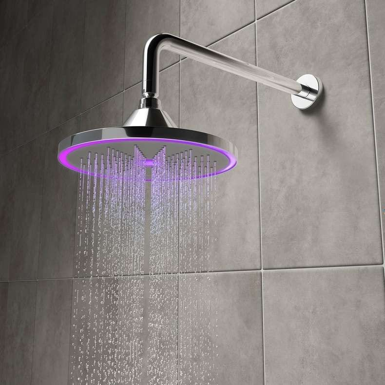 Hydro temperature indicating LED shower head 235mm