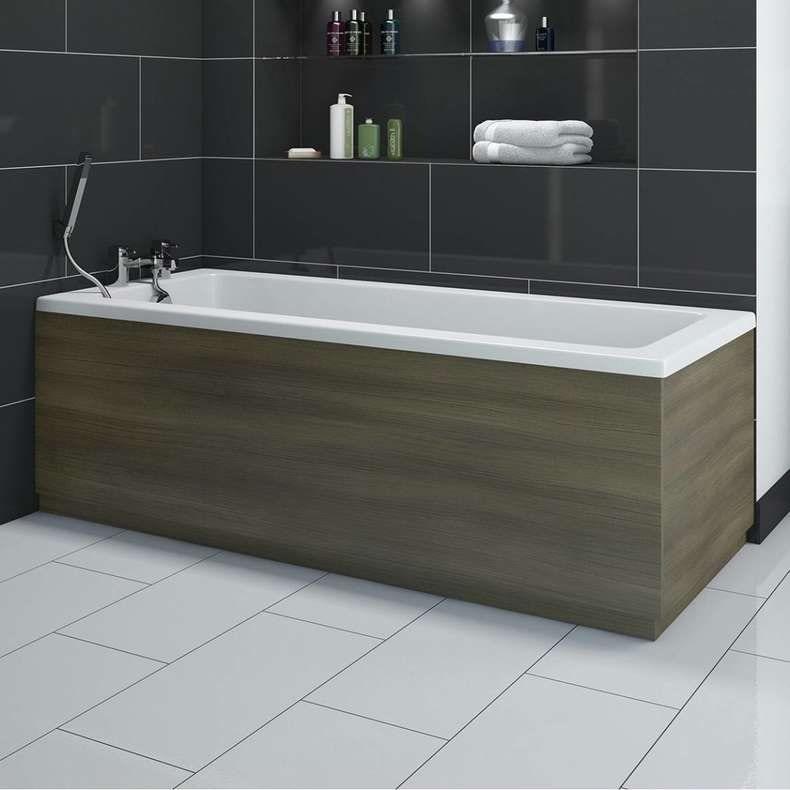Drift Walnut wooden bath front panel 1700mm