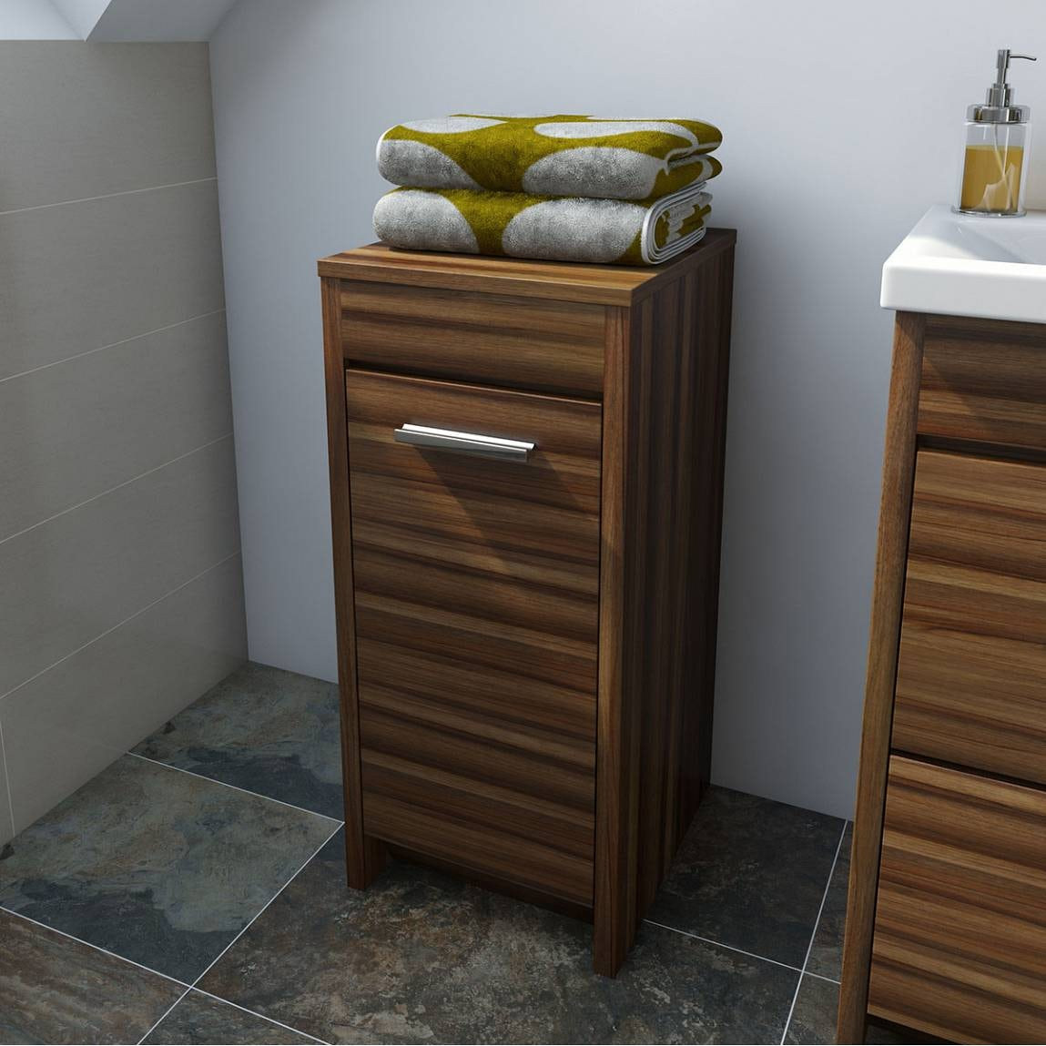 Smart walnut storage unit