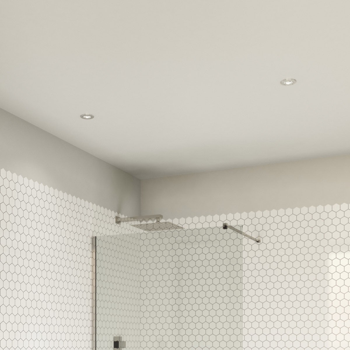 Enclosed bathroom ceiling lights