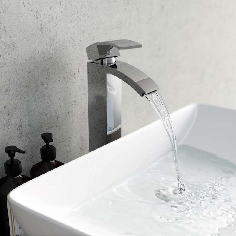 Century high rise countertop basin mixer tap