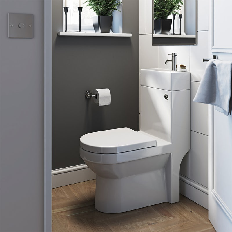 Wharfe compact all in one toilet and basin unit