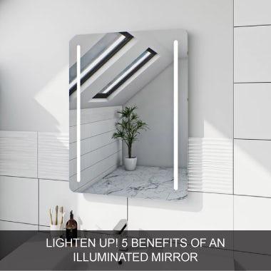 Lighten up with illuminated mirrors