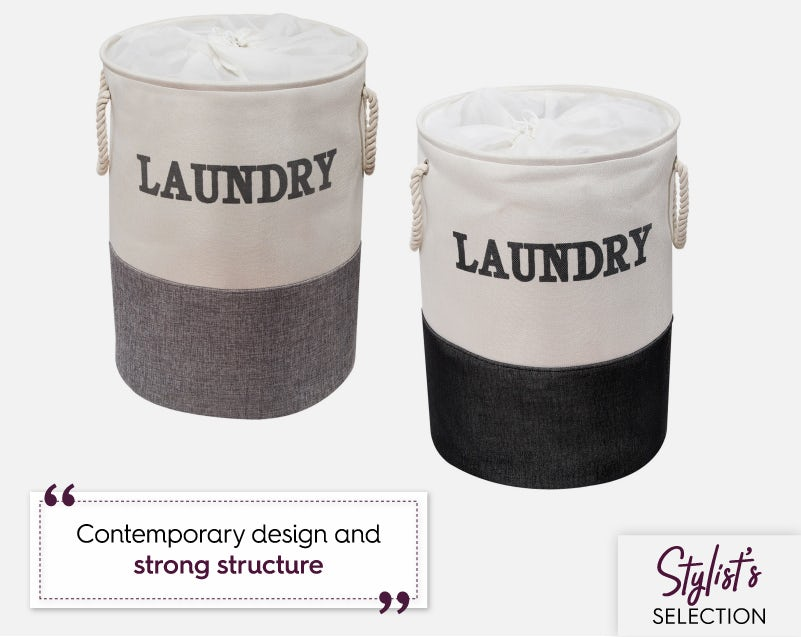 Showerdrape Laya laundry hampers