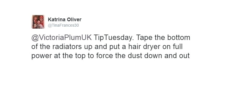 Radiator cleaning tip