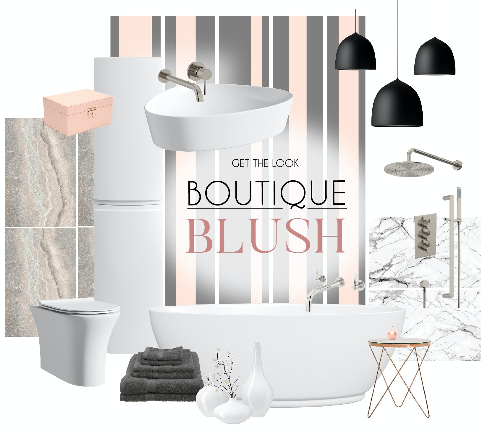 Boutique Blush mood board