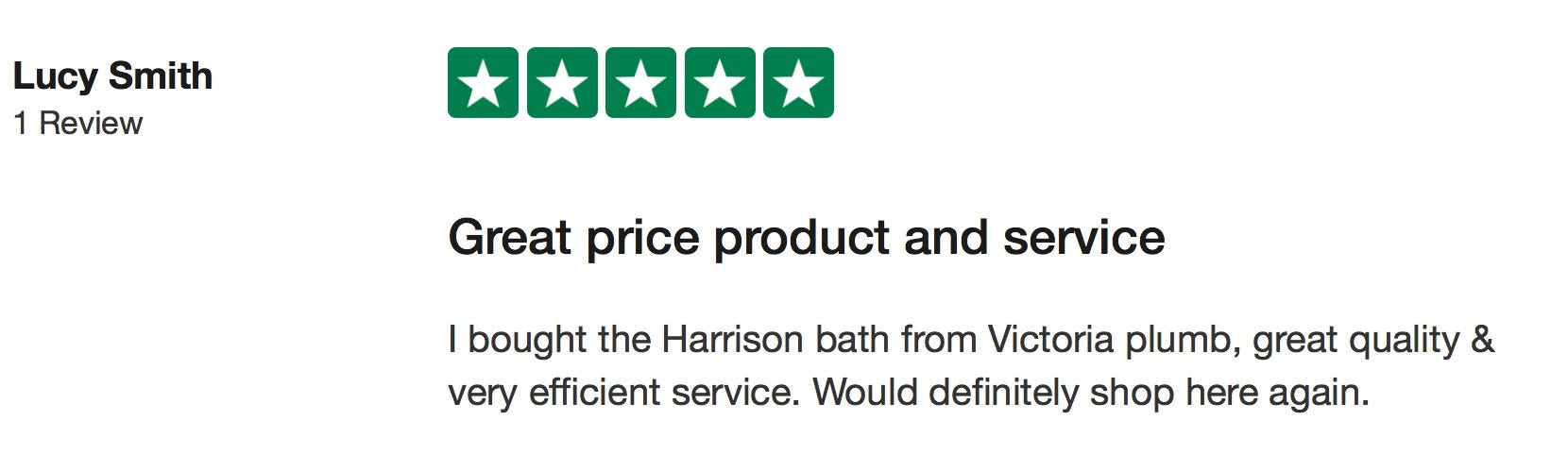 Lucy Smith Trustpilot review