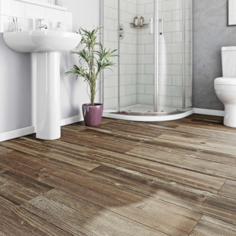 Easy fit super stylish vinyl flooring for Wood effect vinyl flooring bathroom