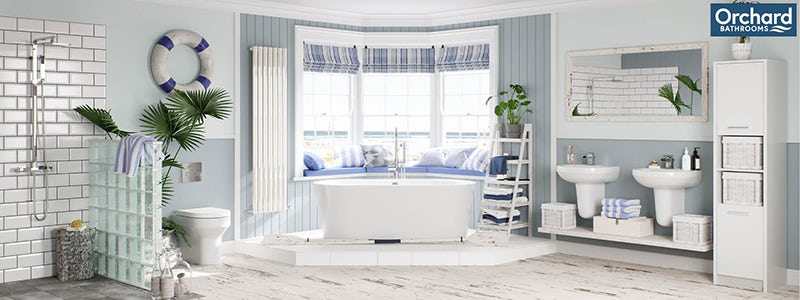 Calming Coastal bathroom