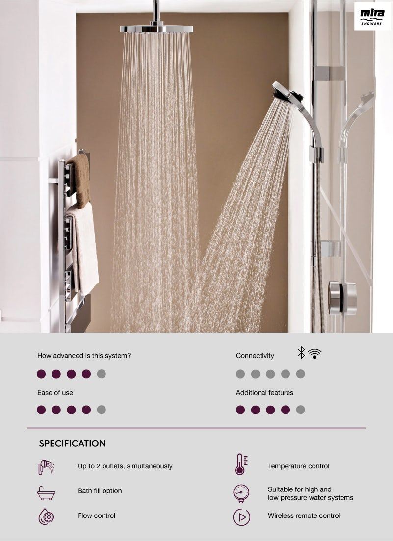Mira Platinum digital shower