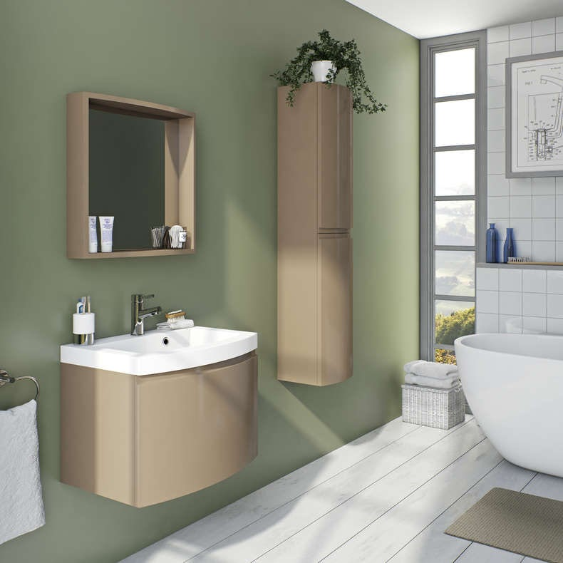 Curvaceous mocha bathroom furniture
