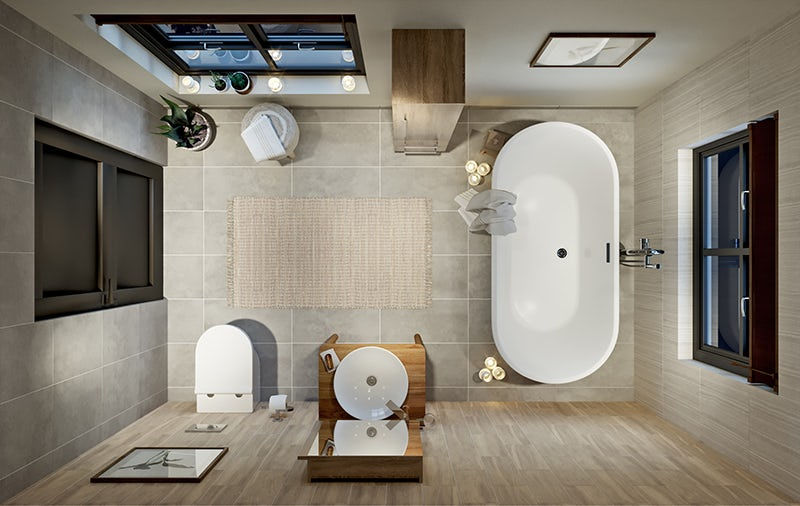 Pure Harmony bathroom layout