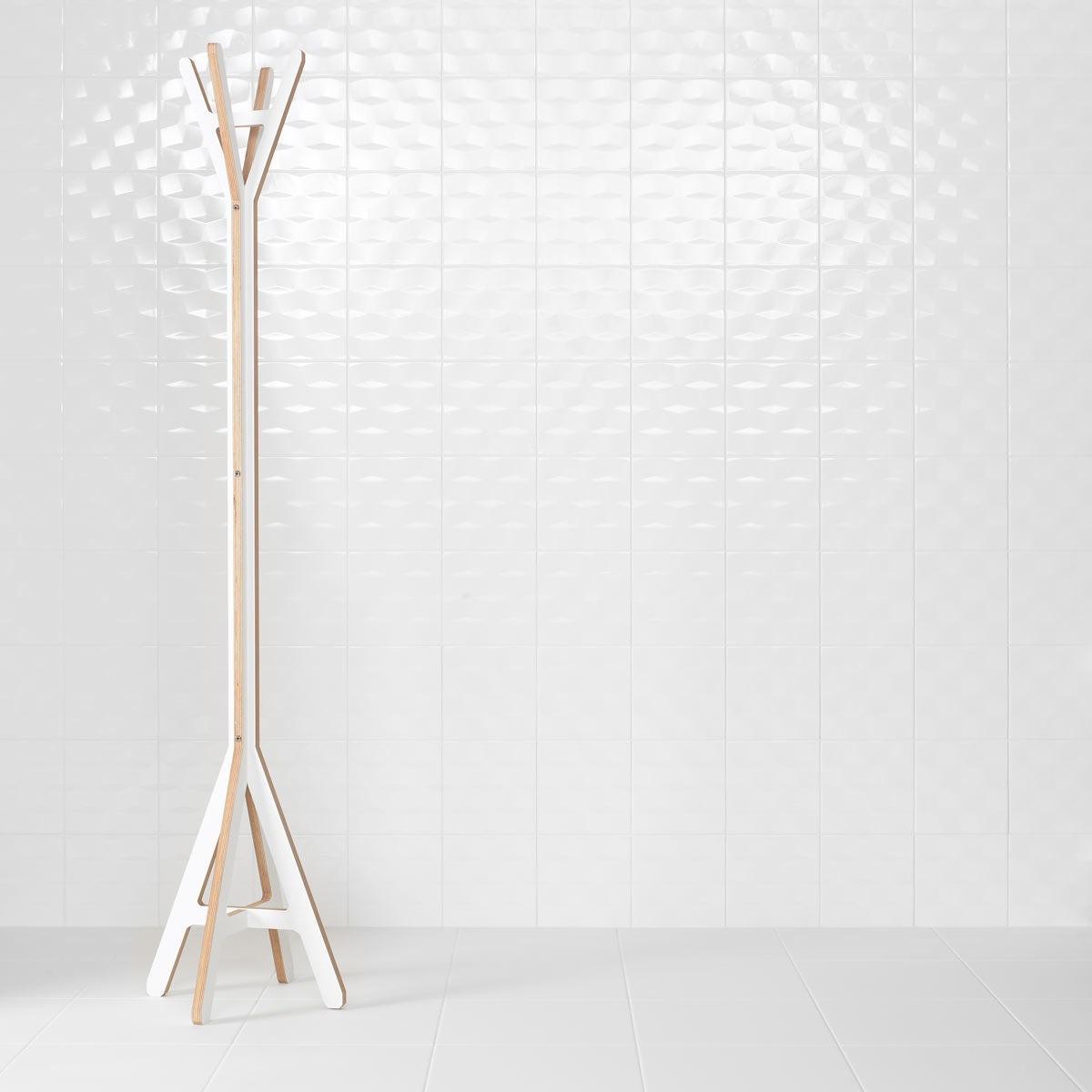 Studio Conran facet white gloss tile 198mm x 198mm